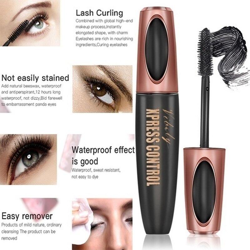 New Waterproof 4D Makeup Eyelash Mascara Eyelash Makeup Silk Fiber Lash Extension Lash Mascara Tubes Fashion Ladies Cosmetics