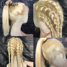 613 Lace Front Wig Straight Honey Blonde Lace Front Wig Human Hair 13x4 Brazilian HD Transparent Lace Wigs Dolago Colorful Wig