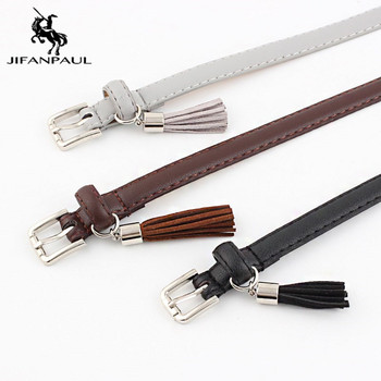 JIFANPAUL Jeans Fashion Individual Belt Womens high quality fashion round alloy buckle jeans with ladies retro student belt