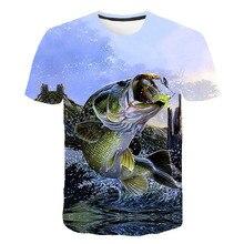 Летняя мужская рубашка для рыбалки, Спортивная дышащая рубашка для рыбалки, 3D рисунок рыбы, одежда для походов, кемпинга, рыбалки