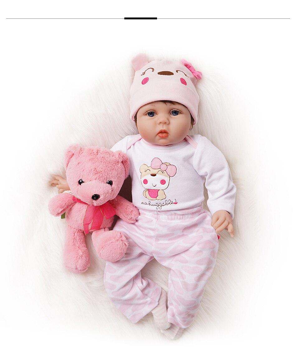 recém-nascido menina brinquedo silicone vinil algodão corpo