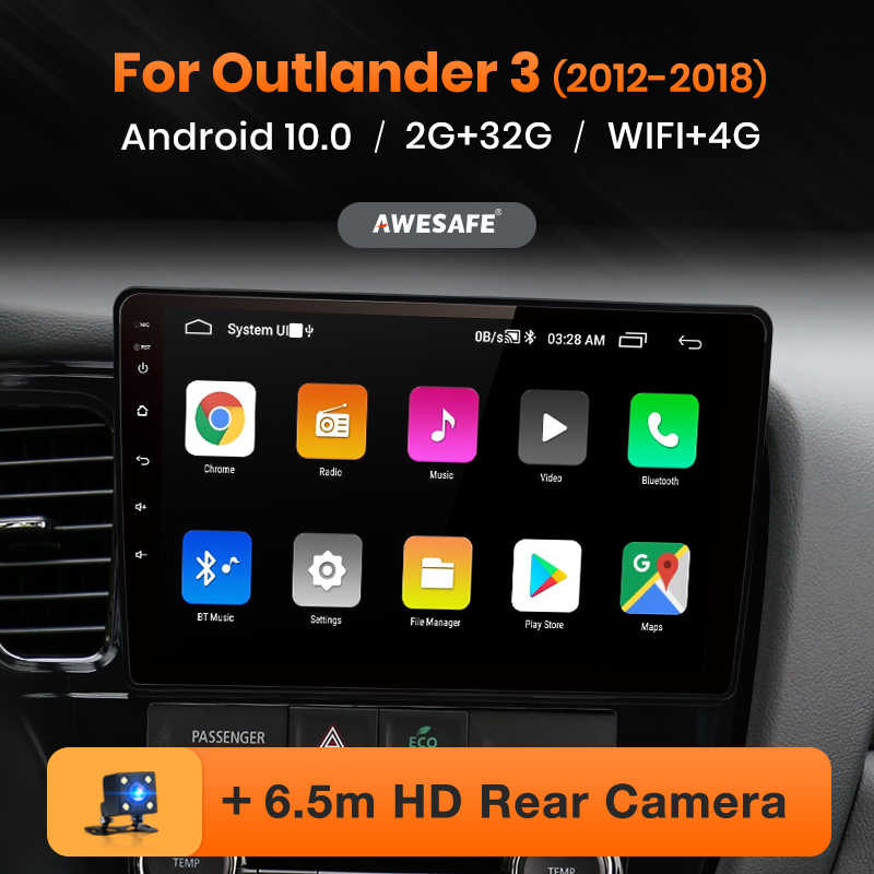 AWESAFE PX9 per Mitsubishi Outlander 3 2012-2017 2018 2019 Auto Radio Multimedia video player GPS No 2 din android 10.0 2GB + 32GB