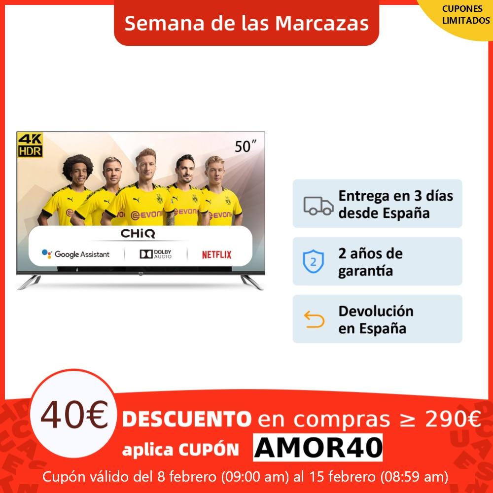 CHiQ U50H7A Smart TV LED 50 pulgadas, Android 9.0, resolución 4K UltraHD, Wifi, Bluetooth, Google Assistant|Smart TV| - AliExpress