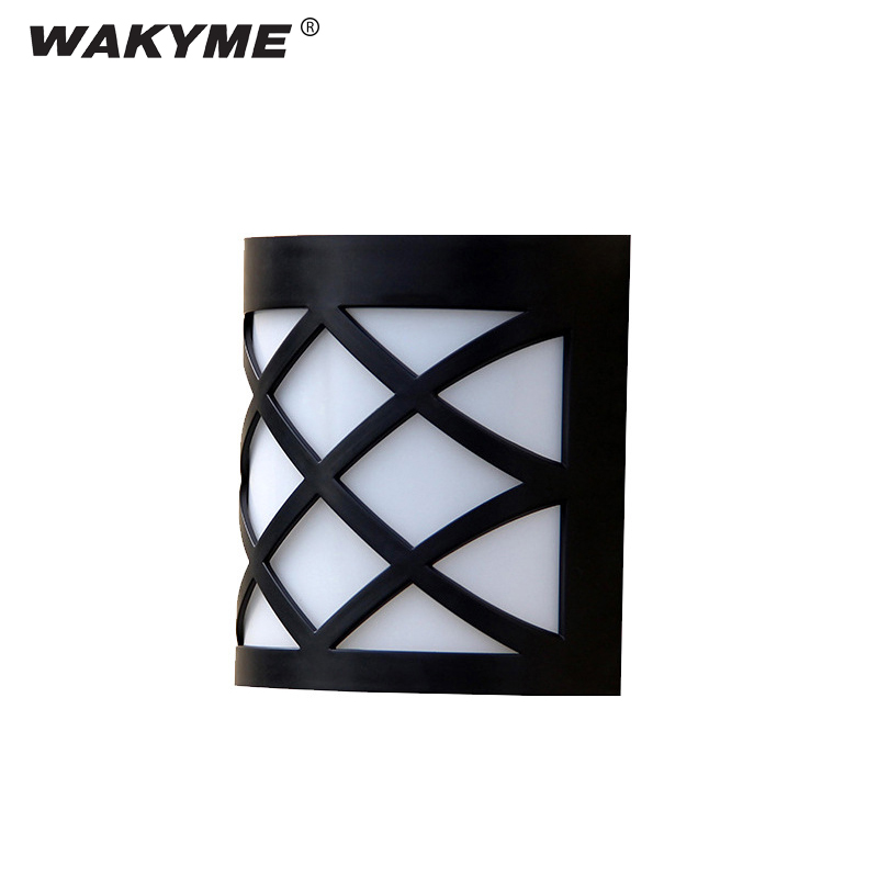 WAKYME 6 LED Solar Light Waterproof Solar Powered Wall Lamp Outdoor Garden Decoration Floodlight for Yard Path Front door Fence
