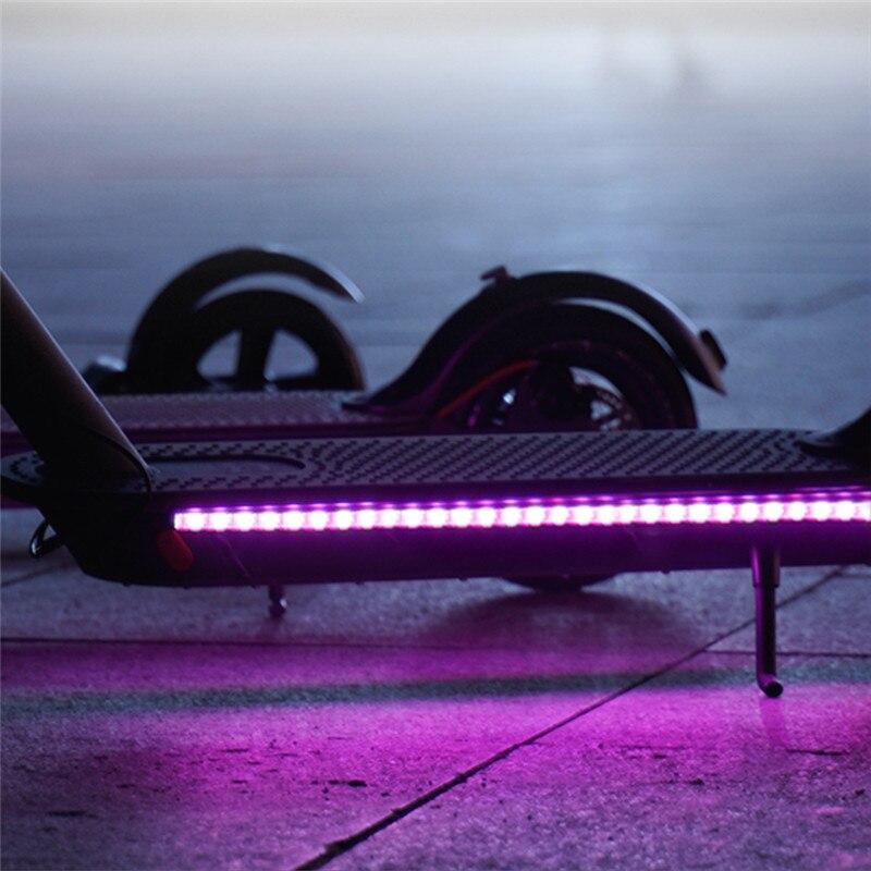 Tira conduzida lanterna barra lâmpada para xiaomi m365 scooter elétrico múltipla cor de comutação skate à prova dwaterproof água luz da noite tira