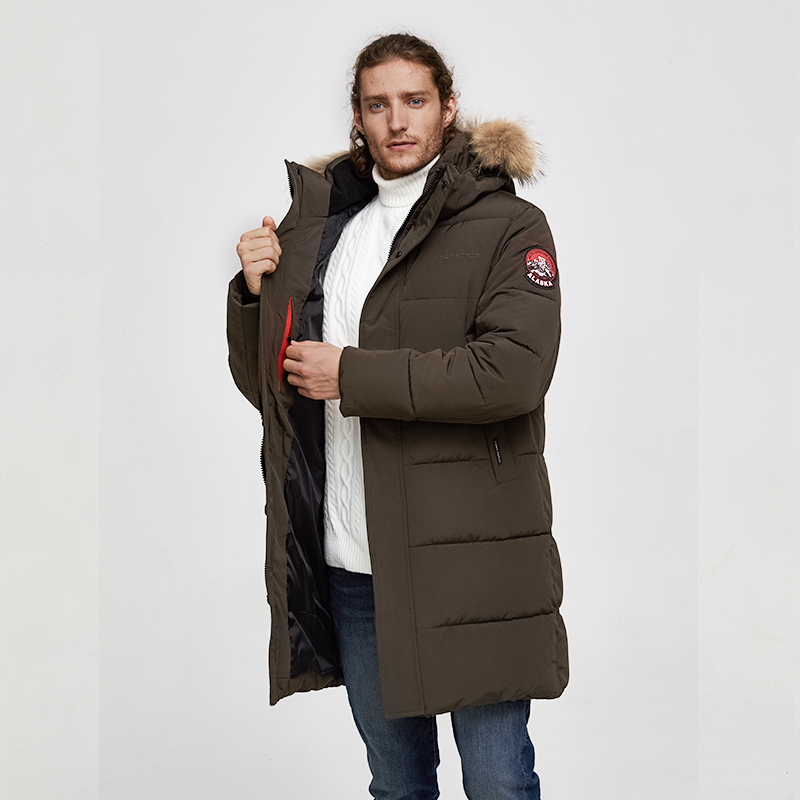 Image 4 - TIGER FORCE Alaska Jacket Men Winter Jacket Parka Men Alaska Coat Detachable Hooded Men'S Winter Coat Artificial Fur Thicken-in Parkas from Men's Clothing