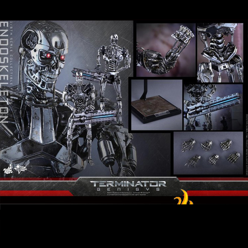 HotToys HT MMS352 In Stock 1/6 Scale Genesis T800 Arnold Skeleton Models Collectibles For Fans Gifts Spot
