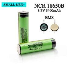 새로운 보호 NCR18650B 3400mAh 3.7V 리튬 이온 18650 충전식 배터리와 PCB BMS 손전등 라디오 팬 키즈 완구 배터리