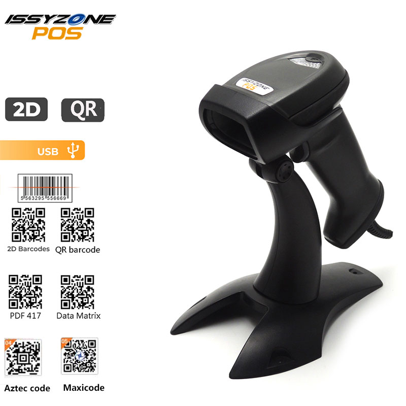 Issyzonepos Barcode Scanner Image-Bar Data-Matrix Bluetooth 2D Support Handheld USB PDF417