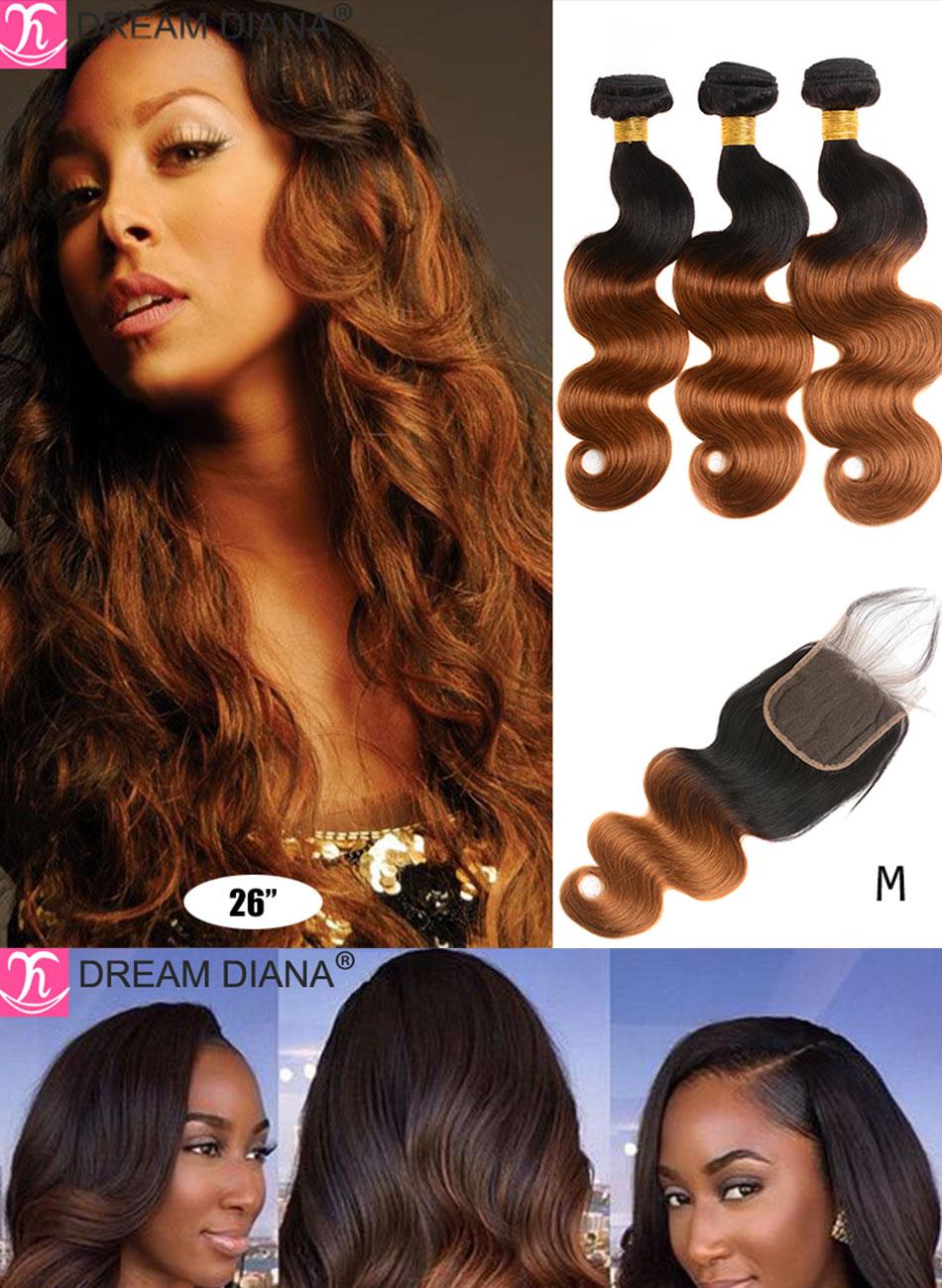 #27 ombre pacotes de cabelo brasileiro com