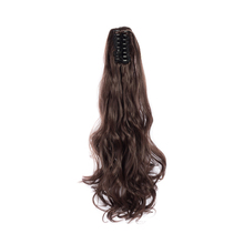 ValentWigs 22 Inches Wavy  Style Claw On Ponytail Clip in Synthetic Hair Extensions Pony Tail Hairpiece Black Brown hairstyles