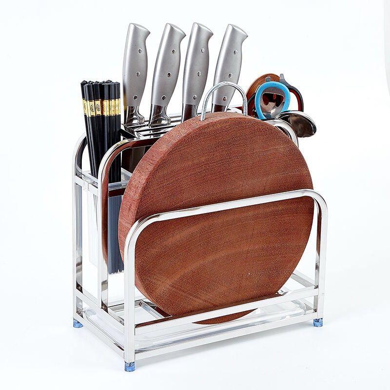 Knife Bag Stainless Steel Knife Holder Rack Kitchen Utensil Rack Flatware Storage Organizer Cutting Board Peeler Knife Scissor