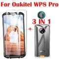 3 в 1 чехол + закаленное стекло для камеры на OUKITEL WP8 Pro NFC Защитное стекло для экрана OUKITEL WP8 Pro 6,49 дюймов 2.5D стекло
