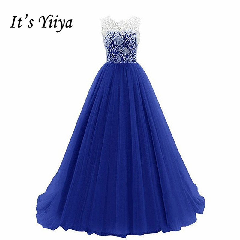 It's Yiiya Bridesmaid Dress O-Neck A-Line Vestido Madrinha K367 Sleeveless Bridesmaid Dresses Long A-Line Bridesmaid Dress Gown