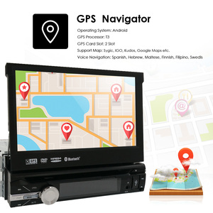 Image 5 - 32G ROM 2G RAM 4G Android 9.0 Auto Radio Quad Core 7Inch 1DIN Universal Car DVD player GPS Stereo Audio Head unit DAB DVR OBD BT