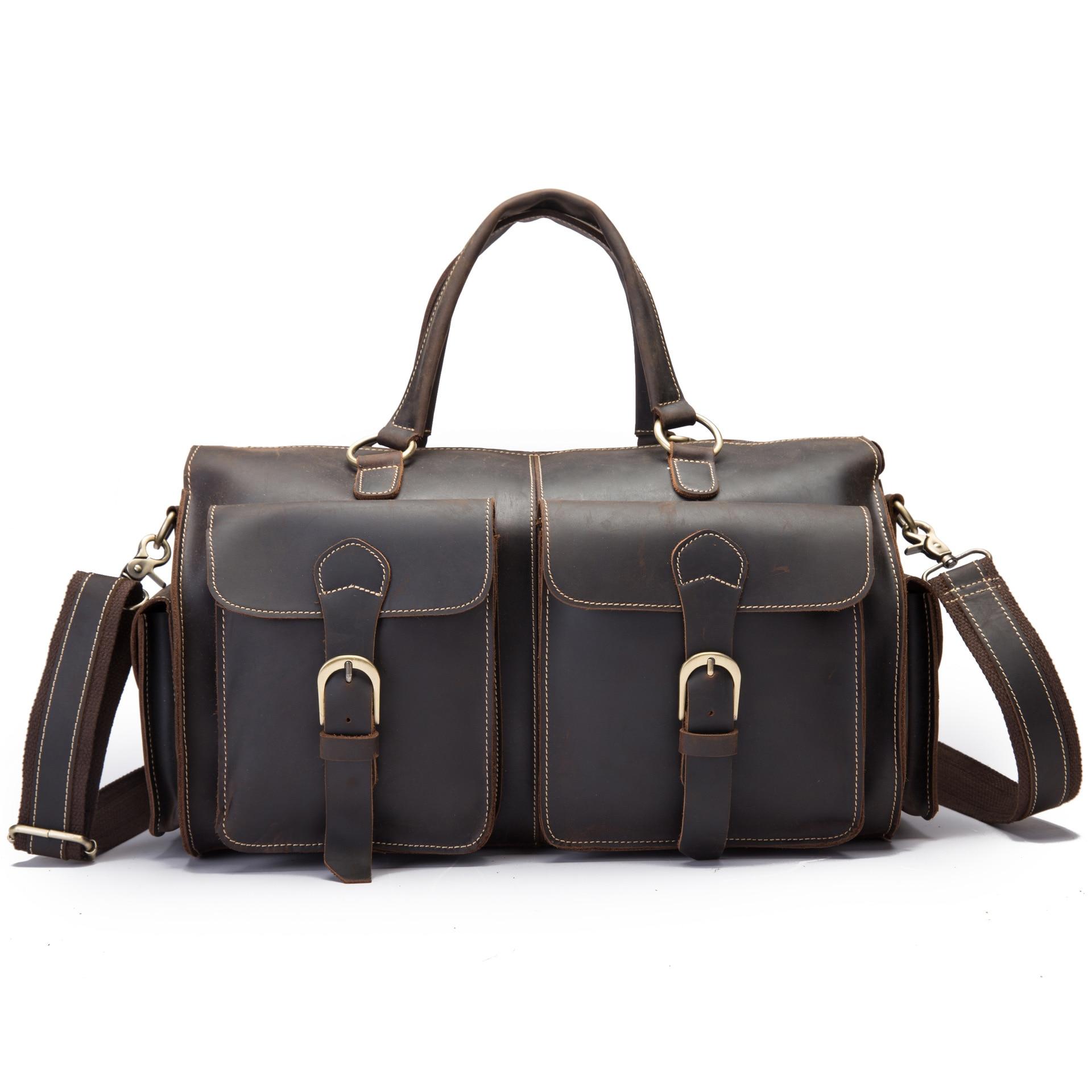 Neweekend дорожная большая сумка для мужчин, повседневный чемодан, ручная сумка из натуральной кожи для бизнеса, качественная сумка через плечо - 2
