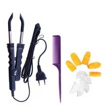 Professional Variable Constant Heat FLAT PLATE Fusion Hair Extension Keratin Bonding Salon Tool Heat Iron Wand