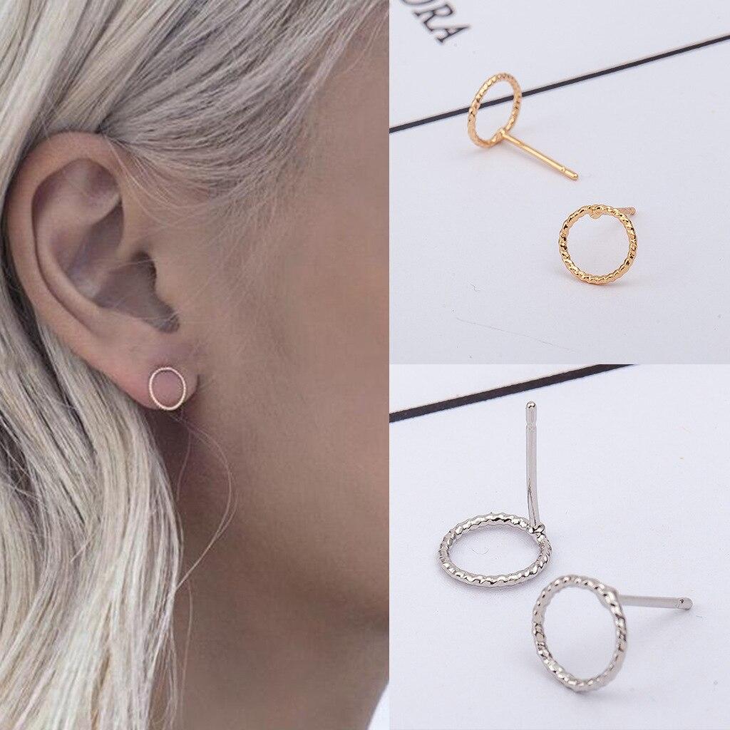 Korean Version Of Simple And Stylish Wild Geometric Twist Circle Earrings
