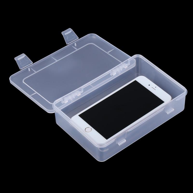 Portable Toolbox Plastic Multipurpose Transparent Storage Box Electronic Parts Screw Organizer Repair Container Box