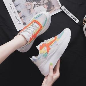 Image 4 - MBR kuvvet moda tıknaz ayakkabı kadın ayakkabısı düz ayakkabı Lace Up rahat ayakkabılar kalın ayakkabı kadın spor ayakkabı