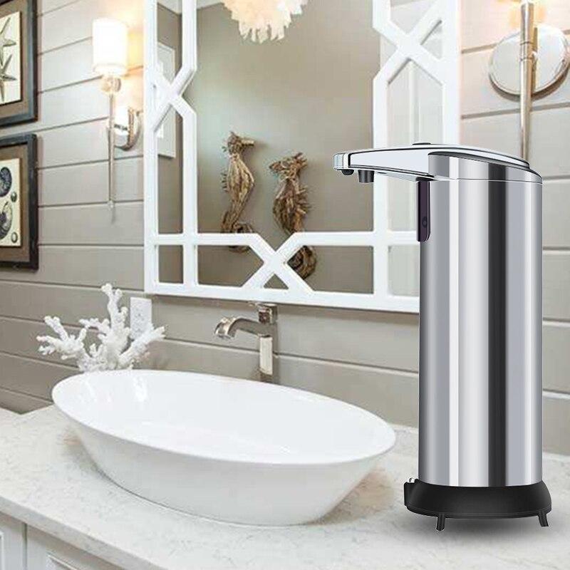 240ML Stainless Steel Auto Sensor Soap Liquid Dispenser Touchless Hand Sanitizer