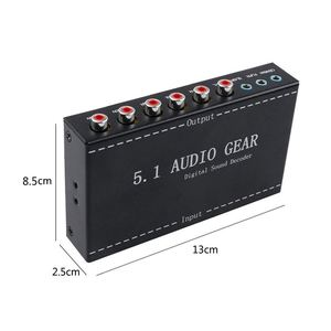 Image 3 - 5,1 Audio Getriebe 2 in 1 5,1 Kanal AC3/DTS 3,5mm Audio Getriebe Digital Surround Sound Decoder Stereo (L/R) signale Decoder HD Player