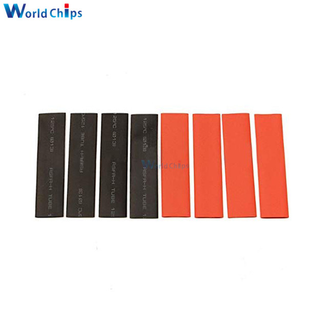 127Pcs Red Black Heat Shrink Tubing Polyolefin 2:1 Electrical Wrap Wire Cable Sleeves Insulation Shrinkable Tube Assortment Kit 4