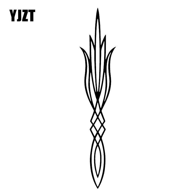 YJZT 3.7X18.3CM Pinstripe Art Personality Whole Body Decoration Car Stickers Vinyl Decals C25-1359
