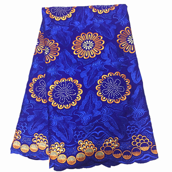 royal blue swiss voile lace fabric pure cotton african voile lace fabric with stones swiss voile fabric 5yards