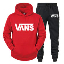 Winter sportswear 2-piece printed hood and pants sportswear men's sportswear hooded sweatshirt suit ladies winter clothing