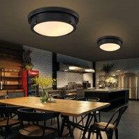24 Вт Ретро заподлицо светодиодный потолочный свет светильники 110 220 В винтажные железные потолочные лампы светильники люстра