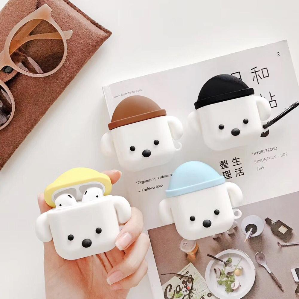 Cute Cartoon Dog Soft Silicone Case For Apple Airpods 1 2 Case Wireless Bluetooth Earphone Protective Cover Case New!