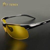 T-TEREX Nachtsicht Brille Männer Polarisierte Anti-Glare Objektiv UV400 Aluminium Magnesium Rahmen Gelb Fahren Sonnenbrille Für Auto