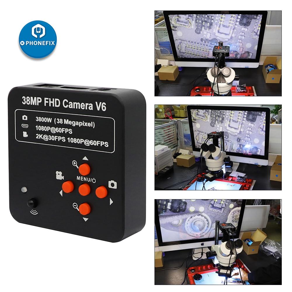 Microscope HD Camera 14MP 16MP 38MP HDMI Digital Video Camera USB C-Mount Picture Video Recorder for Phone Soldering PCB Repair