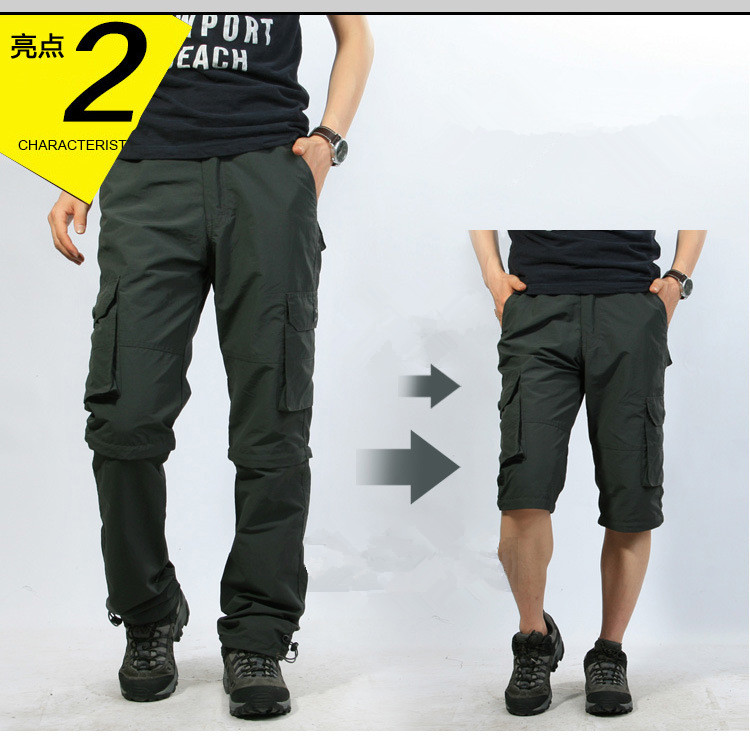Suitable For Shorts And Trousers Men's Spring Quick Dry Removable Pants Breathable Trousers Sports Hiking Trekking Fishing Short