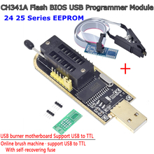 TZT CH341A 24 25 Series EEPROM Flash BIOS USB Programmer Module + SOIC8 SOP8 Test Clip For EEPROM 93CXX / 25CXX / 24CXX DIY KIT