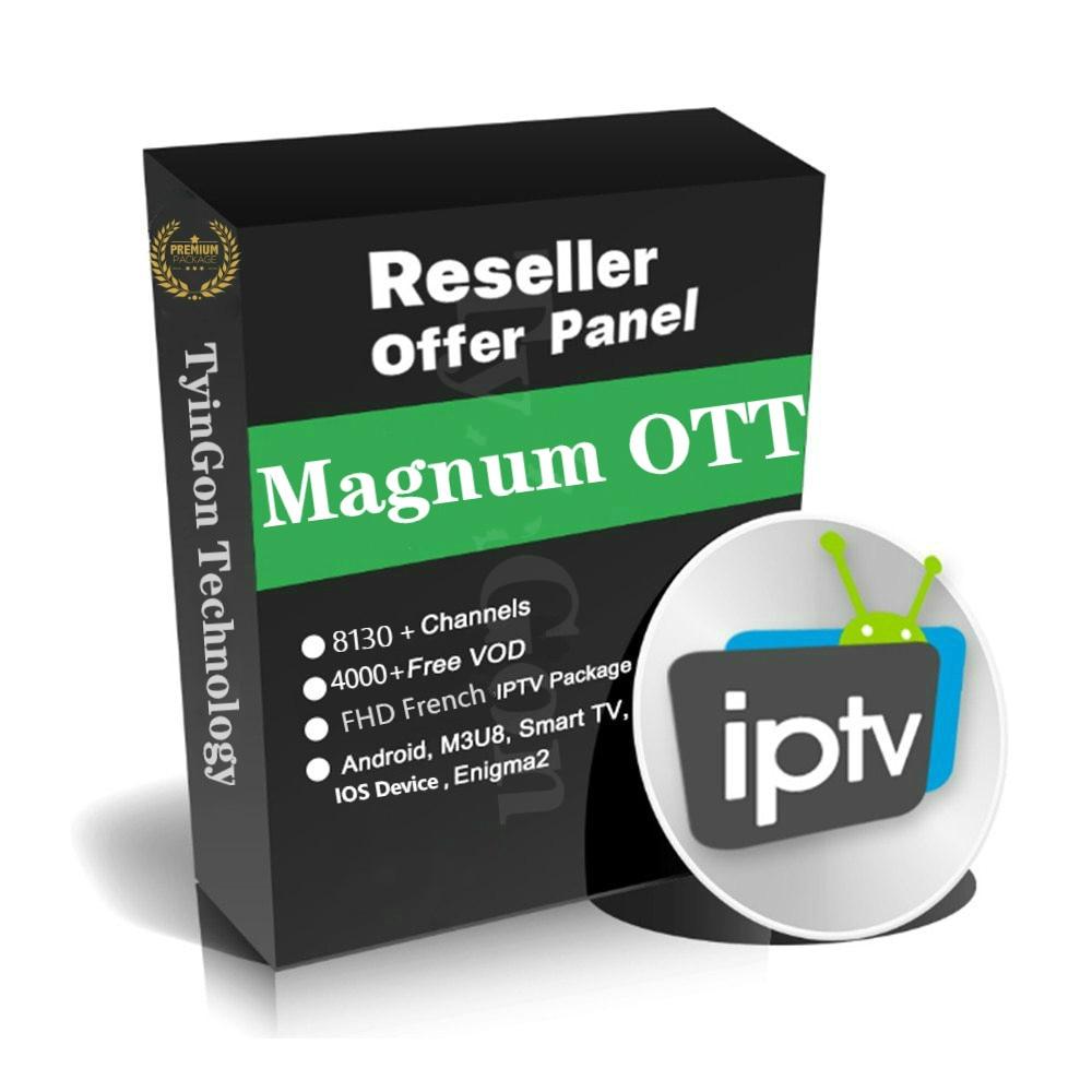 Magnum OTT Premium IPTV Control Panel For Reseller Management 8000+live VOD Series European Iptv French IPTV Spain IPTV