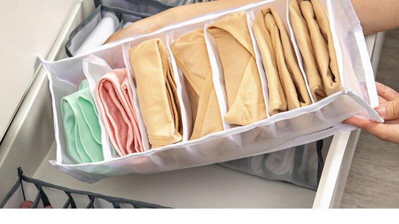 Underwear Storage Box Organizers Wardrobe Home Room Organization Drawer Divider Dormitory Save Space