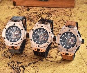HUBLOT Luxury Brand quartz męskie zegarki kwarcowe zegarek ze stali nierdzewnej stalowy pasek zegarek męski klasyczny strój biznesowy męski zegarek