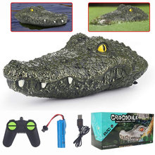 RC toy alligator remote control toys alligator Crocodile head crocodilian robot simulation animal scary toy Racing Boat for kids