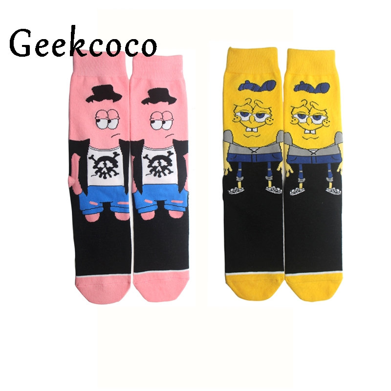SpongeBob SquarePants Fashion Sports Long Socks For Kid 3D Printed Stocking New Pattern Hip Hop Cotton Sock Unisex Cartoon J0417