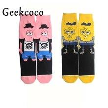 SpongeBob SquarePants Fashion Sports Long Socks for Kid 3D Printed Stocking New Pattern Hip Hop Cotton Sock Unisex Cartoon J0417