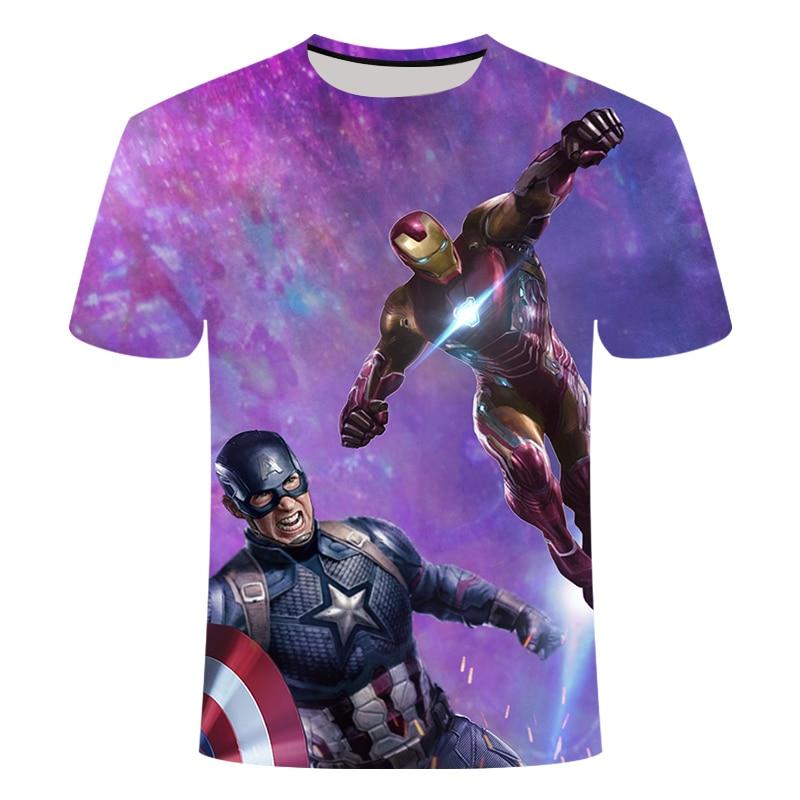 Новинка, футболка Marvel Avengers 4 final, футболка с 3d принтом супергероя Америки, футболка для косплея, Мужская Новая летняя модная футболка - Цвет: TX113