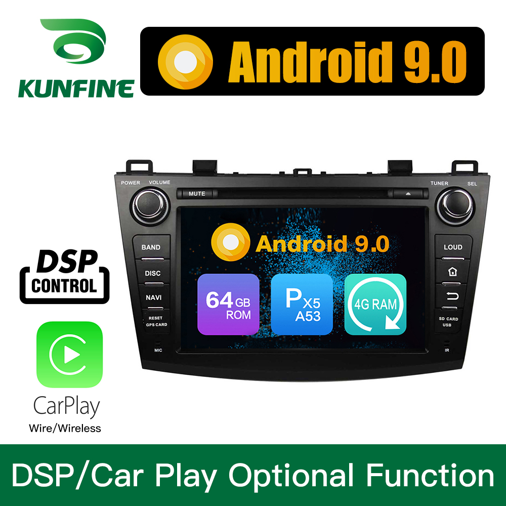 Android 9.0 Octa Core 4GB RAM 64GB ROM Car DVD GPS Navigation Multimedia Player Car Stereo for Mazda 3 2009 2013 Headunit Radio