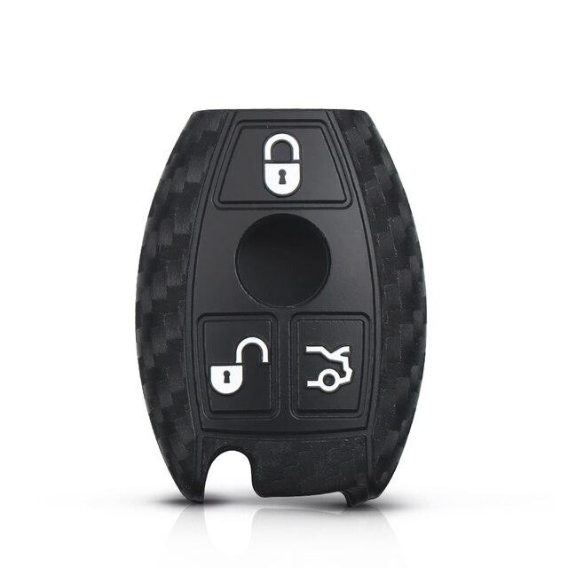 KEYYOU 10X Silicone carbone à distance voiture clé housse pour Mercedes Benz année 2000 + NEC & BGA E S CL CLS CLA CLK W203 W210