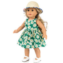 New Born Cute Toys Doll Clothes Gift With Cap Colorful DIY For Girl Accessory Birthday Children Printed Skirt Fashion