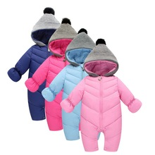 цена на CYSINCOS Winter Kids Warm Jumpsuit Children Zipper Infant Overall  Newborn Baby Boys Girls Romper Climbing Suit Clothing Jacket