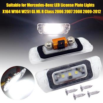 цена на Suitable for Mercedes-Benz LED License Plate Lights X164 W164 W251 GL ML R Class 2006 2007 2008 2009-2012