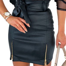 Женская короткая юбка из искусственной кожи Сексуальная мини