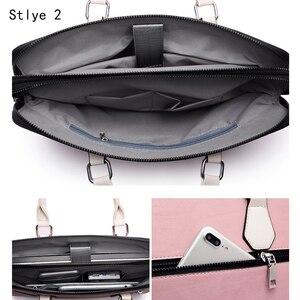 Image 4 - Couro do plutônio à prova d14 água 14 15.6 saco do mensageiro portátil para macbook air 13 a1932 2018 2019 caso 13.3 15 bolsa feminina sacos de ombro